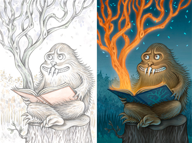 Yeti with a Magical Book